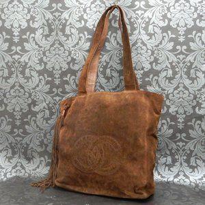 Chanel Brown Suede Leather Fringe Bag